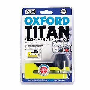 Oxford Titan Motorcycle Strong 10mm Pin Disc Lock OF51 Yellow OF51