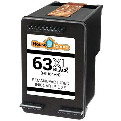 Black Ink Cartridge for HP 63XL HP Deskjet 1110 1112 2130 3630 3632 3634 3636