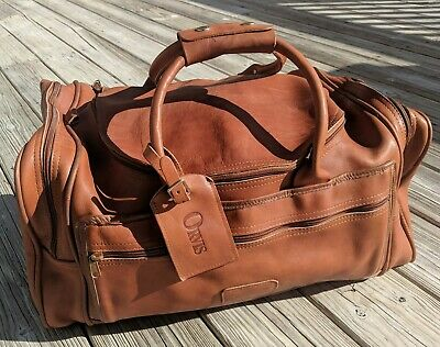 72195977b LEATHER ORVIS DUFFLE Bag suitcase - $169.99 | PicClick