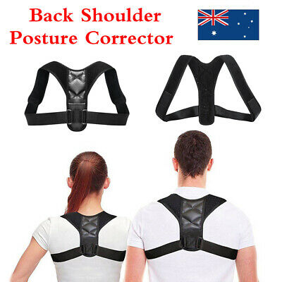 Posture Corrector Adjustable Back Shoulder Belt Support Body Back Brace Unisex