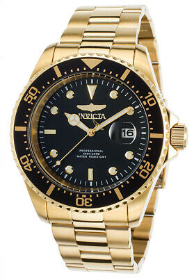 Invicta 22062 Gent's Yellow Gold Steel Black Dial Dive Watch