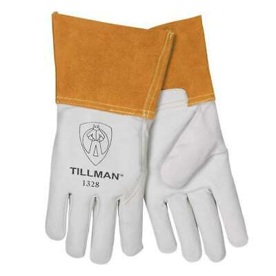 "Tillman 1328 Top Grain Goatskin TIG Welding Gloves 4"" Cuff, Medium"