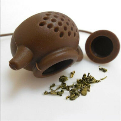 Silicone Tea Infusers Chinese Style Mini Cute Purple Clay Teapot Shape Infuser D