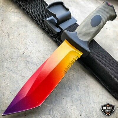 "9.5"" Tactical CSGO Ursus Fixed Blade Counter Strike Hunting Knife Fire Fade"