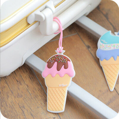 Cartoon ice Cream Luggage Suitcase Tag Baggage Portable Labels Name Address D