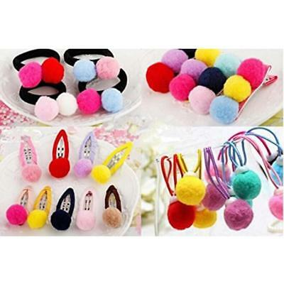 Round DIY Soft Fluffy PomPom Balls For Hat Clothing Bag Jewelry Decor New D