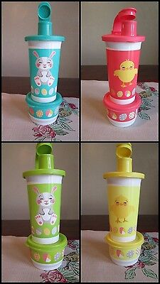 Tupperware Easter Buddies Bunny Rabbit Chicks Chicken Tumbler & snack cup COLOR
