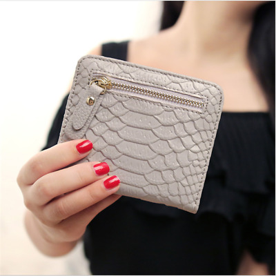 Women Lady Leather Short Wallet Bifold Bag Card Holder Coin Pocket Purse D