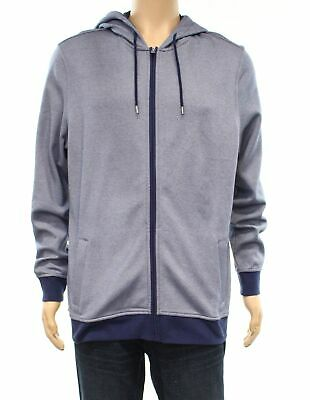 d6f9d076 Club Room NEW Navy Blue Mens Size 2XL Full Zip Hooded Hoodie Sweater $65  #013
