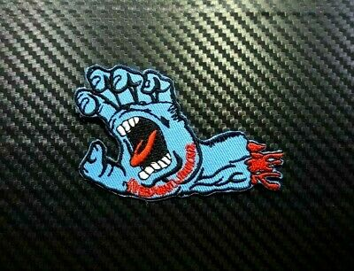 Santa Cruz Screaming SpeedWheels Skateboard Embroidered Iron Sew On Patch Logo