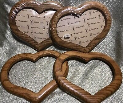 4 Wheatland Crafts Wood / Oak Heart Cross Stitch / Needlework Frame