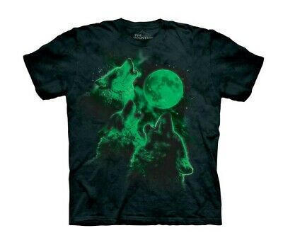 Three Wolf Moon Glow Big Boys T-Shirt Tee