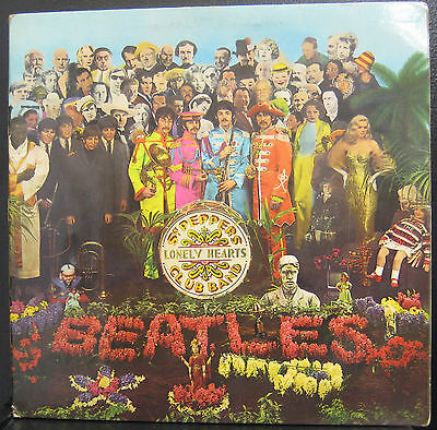 The Beatles Sgt Pepper's Lonely Hearts Club VG+ Pz 7027 Asia S.E.A.Stereo