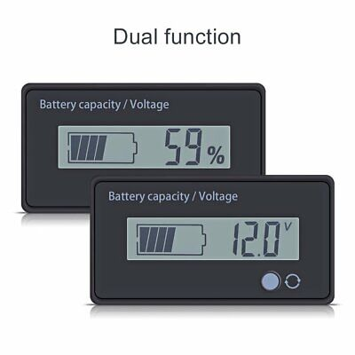 12V Battery Status Charge LCD Digital Lead Acid Battery Indicator Monitor Meter