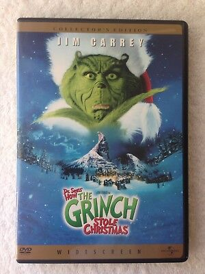 """How The Grinch Stole Christmas. (DVD, WS, 2001) Jim Carrey As """"The Grinch!"""""""