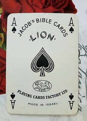 Vintage Wide playing card Ace of spades Jacobs Bible card 1900s circa