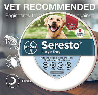 Bayer Seresto Flea and Tick Collar Full Protection for Large Dog 8 Months