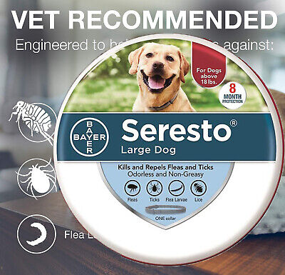 Bayer Seresto Flea and Tick Dog Collar Protection for Large Dog Over 18lbs NEW
