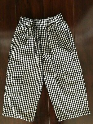 Kelly's Kids 3T Pants Black White Plaid Houndstooth Boy Boutique Wear with Smock