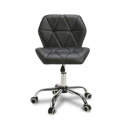 Adjustable 360° Swivel Cushioned Computer Desk Office Chairs Chrome Legs Black