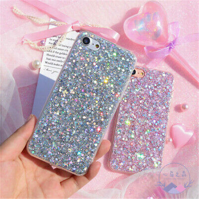 Bling Glitter Full Sparkle Protective Cute Slim Fit Phone Case Cover For iPhone