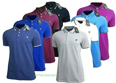 LYLE & SCOTT Tipped Polo Men's Short Sleeve | New With Tag | 8 Different Colours
