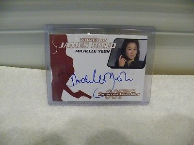 James Bond Michelle Yeoh WA17 autograph card