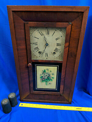 Levi Smith Extra Clocks Antique Bristol,CT 1820s Large Wood Weighted Seth Thomas