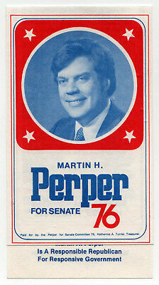 1976 GERALD FORD Martin Perper US SENATE Virginia POLITICAL Flyer MCLEAN VA