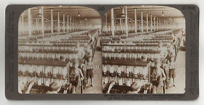 COLUMBIA SOUTH CAROLINA Stereoview SV Olympian Mills TEXTILES Spinning Room SC