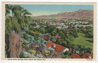 SOUTH PALM SPRINGS CALIFORNIA PC Postcard DESERT INN Stephen Willard CALI CA