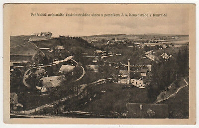 CZECH REPUBLIC PC Postcard JOHN AMOS COMENIUS Komensky MORAVIA Monument CHURCH