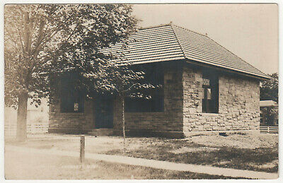 1912 AMHERST NEW HAMPSHIRE Public Library RPPC RP Real Photo Postcard NH Milford
