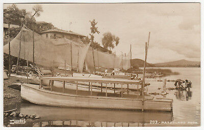 PATZCUARO MICHOACAN Mexico RPPC RP Real Photo Postcard MX Mich BOATS Harbor