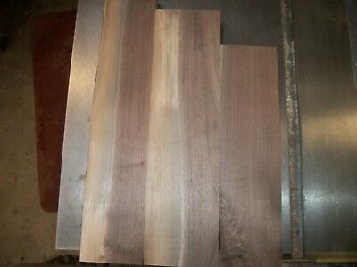 3 Pc Walnut Lumber Wood Air Dried Board Lot 505Z Carving Blocks Clear Flat