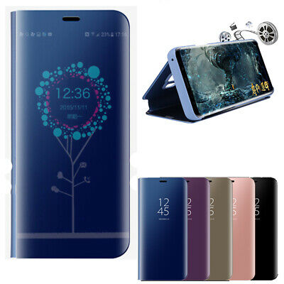 Luxury View Mirror Flip Leather Smart Case For Samsung Galaxy Note 9 S9 A8 2018