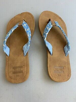 b697fd0591cb TOMS WOMENS SIZE 6 Blue Solana Flip Flops New with Tags -  24.97 ...