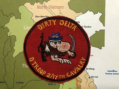 PATCH , US Army 2-17 2nd Squadron 17th  , Cavalry Delta Troop , Vietnam , 2nd Sq