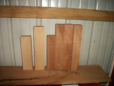 3 Pc Cherry & 3 Pc Ash Lumber Wood Air Dried Board Lot 126 Carving Blocks Clear