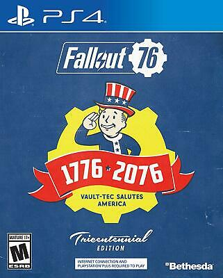 NEW Fallout 76 Tricentennial Edition for PlayStation PS4 Game DVD