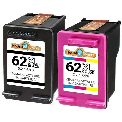 2PK #62XL (C2P05AN) Black + #62XL (C2P07AN) Color Ink for HP ENVY 5660 7640 7645