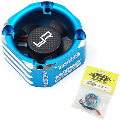 NEW Yeah Racing Aluminum Case 30mm Booster Cooling Fan Blue FREE US SHIP