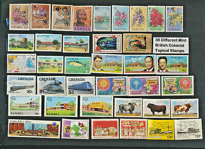 British Colonials Mint Never Hinged Mini Collection Builder 38 Different Topical