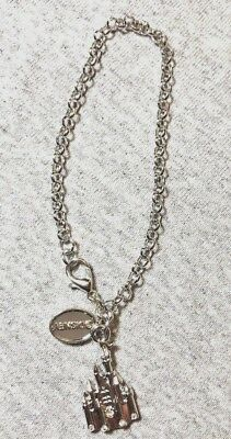 Disney Parks Charmed In The Park - Silver- Color Charm Bracelet With Castle