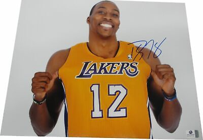 Dwight Howard Hand Signed Auto 11x14 Photograph Los Angeles Lakers Pulling GA