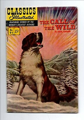Classics Illustrated #91, 1953 (The Call of the Wild) HRN 112, Gilberton USA