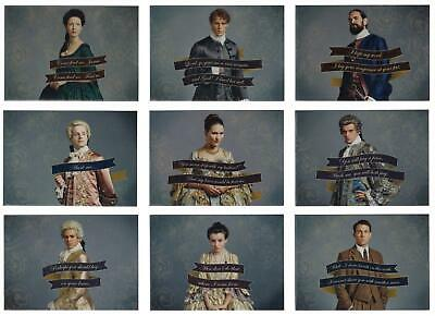 Outlander Season 2 (2017) QUOTES Trading Card Insert Set (9 Cards)