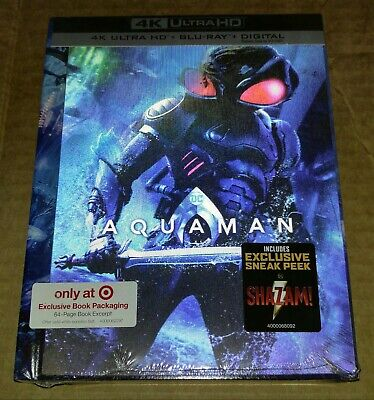 New Aquaman 4k Ultra HD/Blu-ray/Digital Lenticular Digibook Target Exclusive