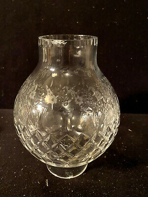 "A2104 3"" X 8.5""  Clear Diamond Cut Glass Lamp Light Shade"