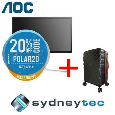 New AOC AGON AG241QG 23.8in QHD 165Hz 1ms Gaming Monitor + Travelling Suitcase